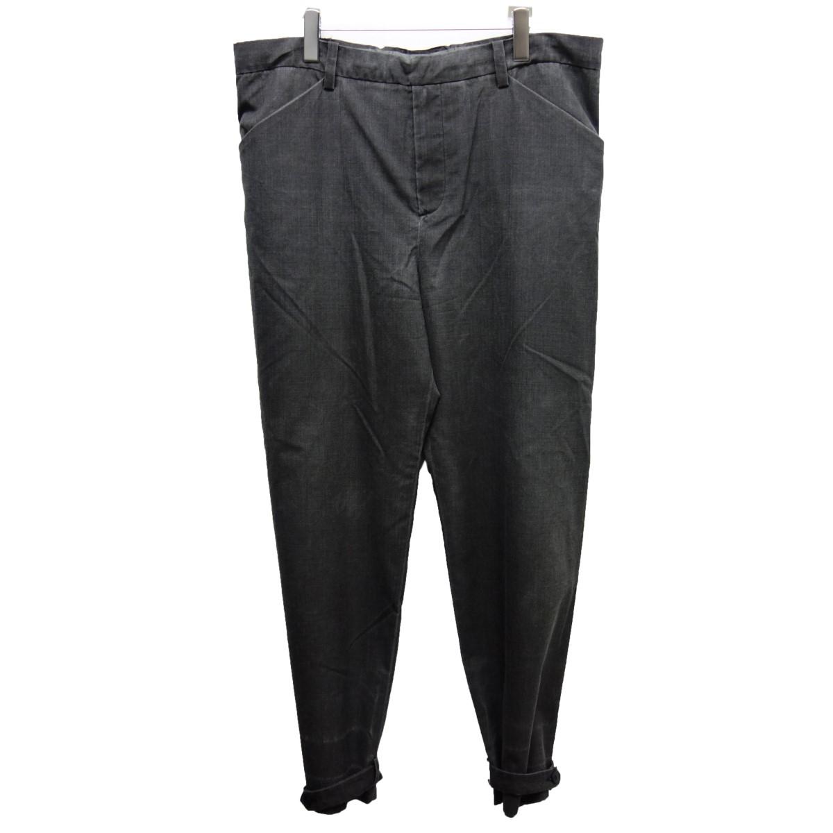 【中古】sunsea15AW 「painted wool pants」 ペインテッド ウールパンツ グレー サイズ:3【2月24日見直し】