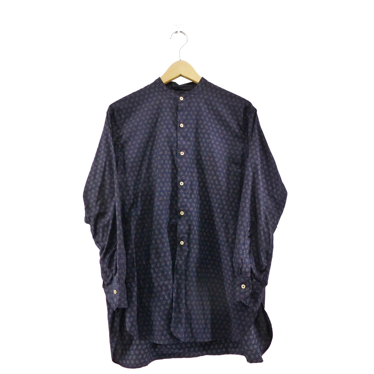 【中古】KAPTAIN SUNSHINE 2019AW Banded Collor Shirt FALL FLOWER 【117093】 【KIND1884】