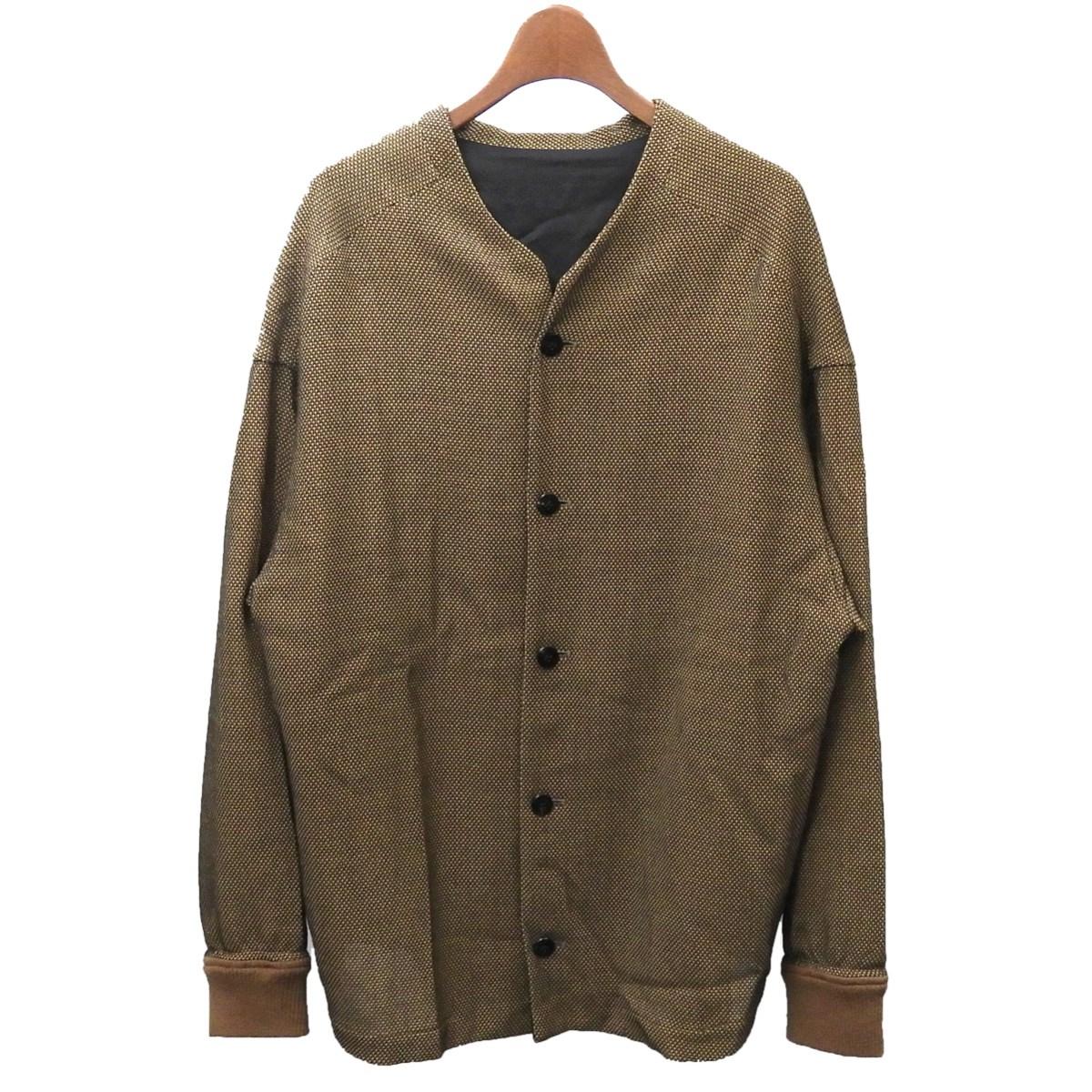 【中古】the Sakakiノーカラージャケット ブラウン サイズ:M 【4月2日見直し】