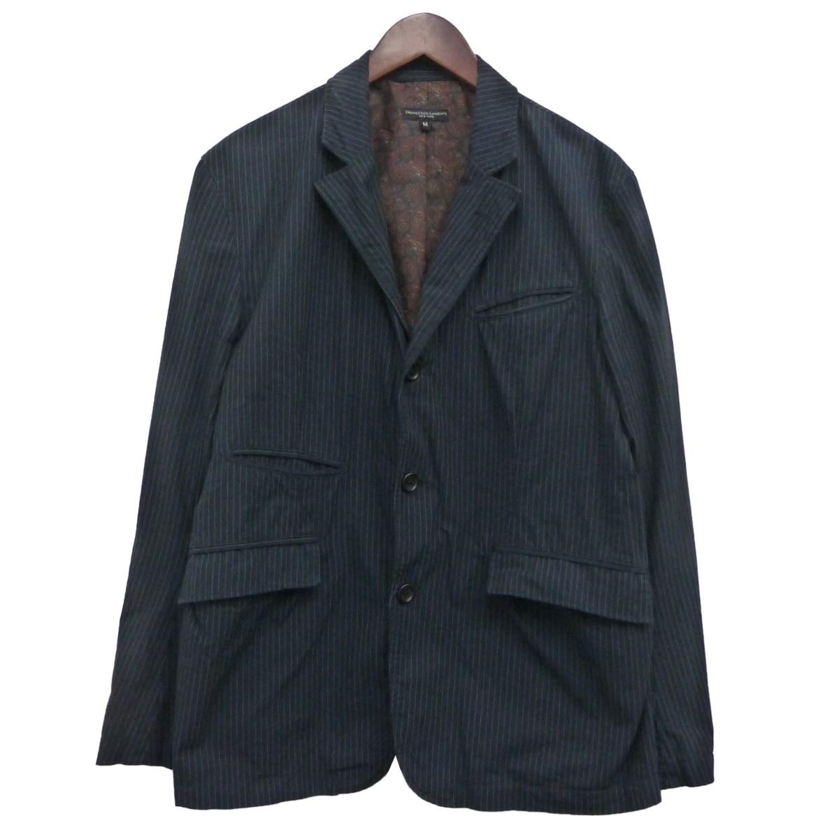 【中古】Engineered Garments 「Andover Jacket」ノッチド3Bストライプジャケット ネイビー サイズ:M 【300120】(エンジニアードガーメンツ)