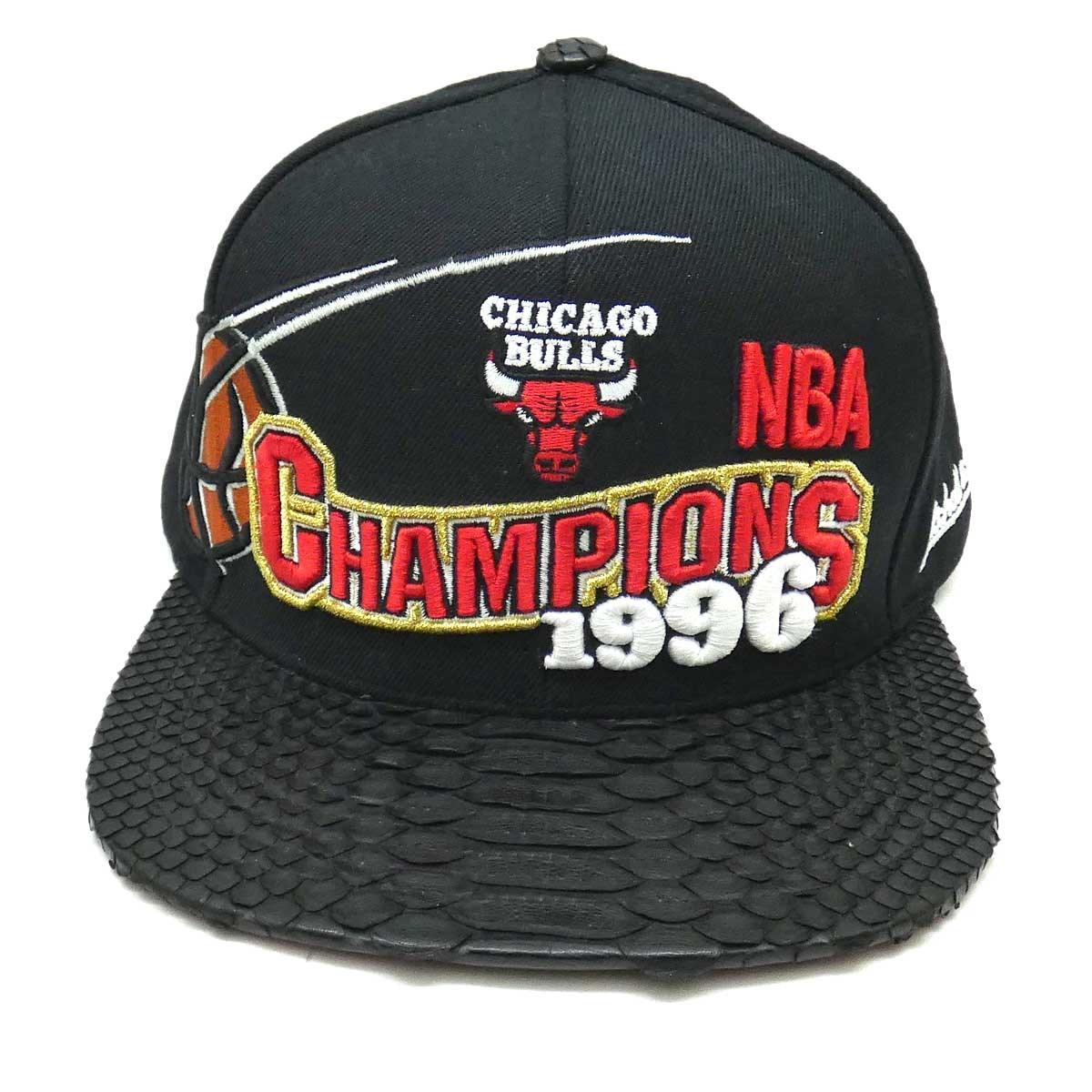 【中古】Mitchell & NessJUST DON/CHICAGO BULLS CAP ブラック