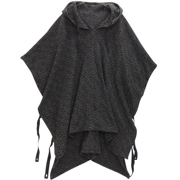 【中古】Engineered Garments Poncho ウール ポンチョ コート グレー サイズ:M 【300120】(エンジニアードガーメンツ)