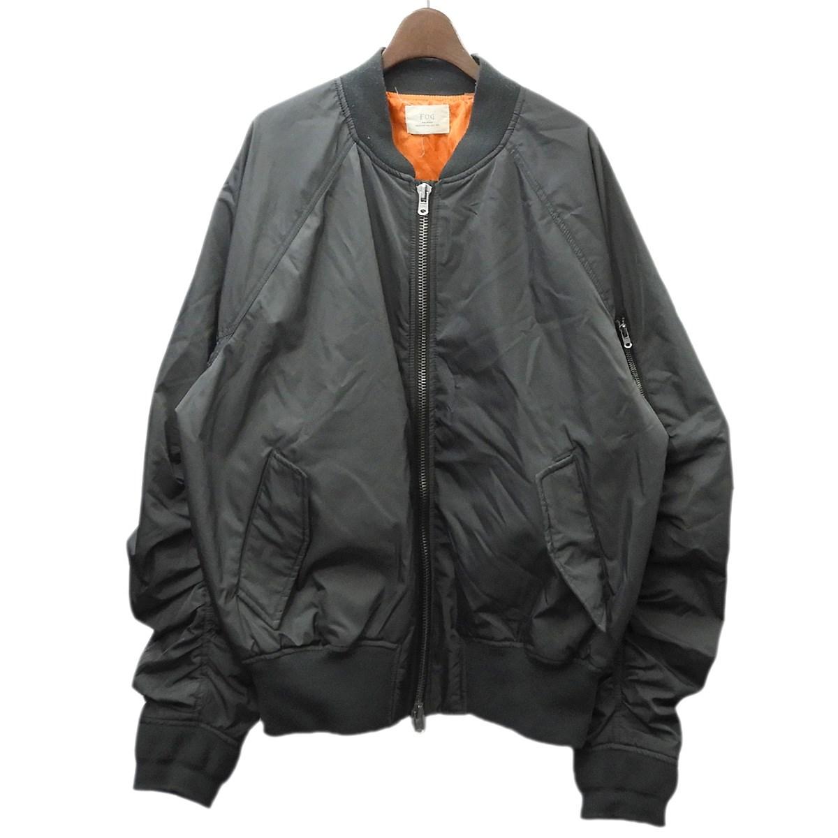 【中古】FOG by FEAR OF GOD ESSENTIALS MA-1ジャケット グレー サイズ:XL 【010220】(エフオージーバイフィアオブゴッドエッセンシャルズ)