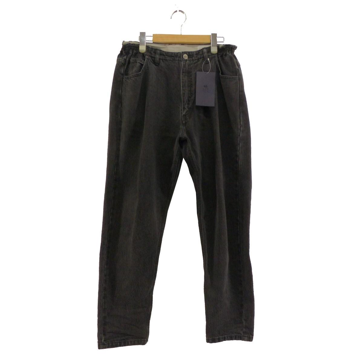 【中古】URU 2019AW DENIM EASY PANTS-TYPE B- ブラック サイズ:1 【010220】(ウル)