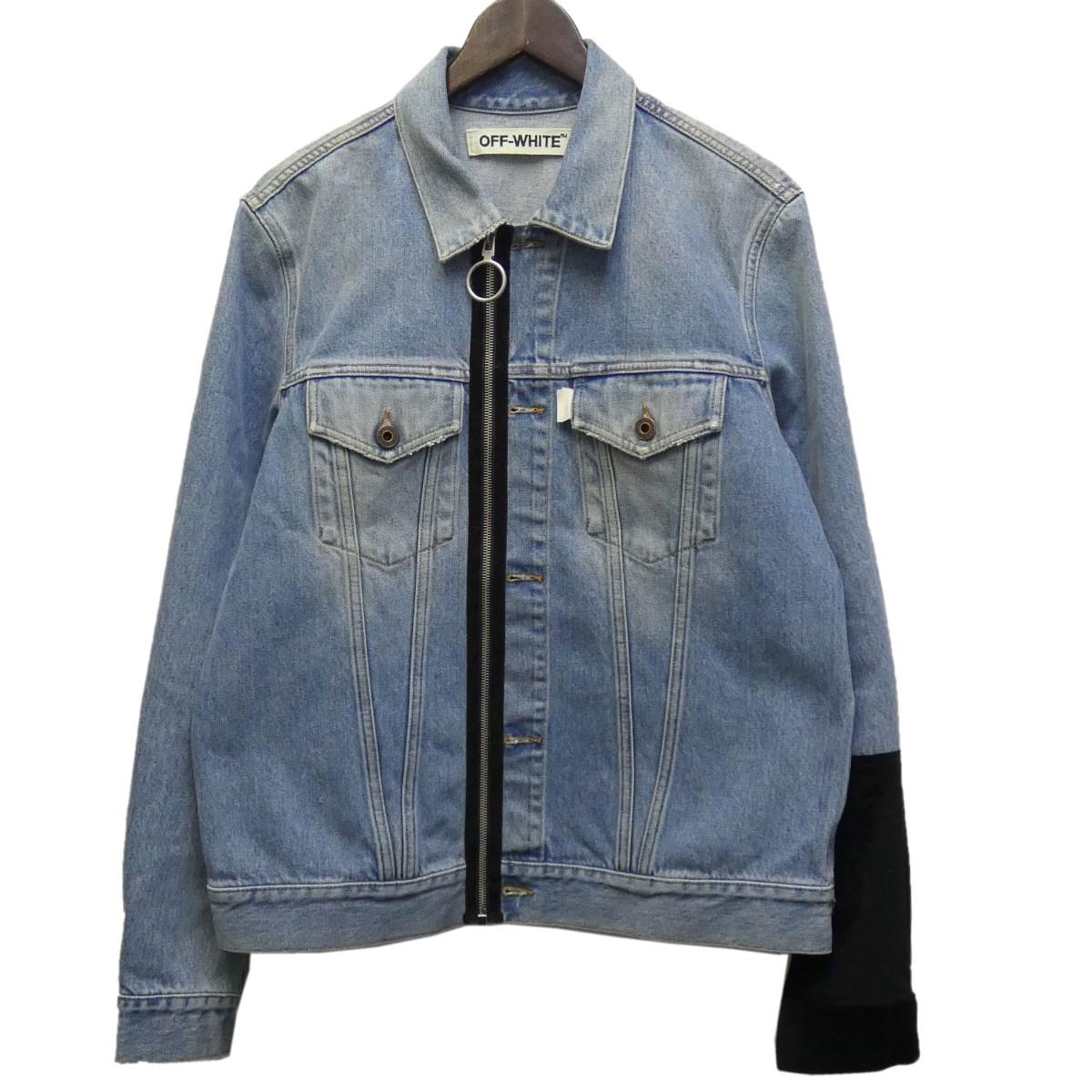 【中古】OFFWHITE16AW 「Denim Jacket With Patches」デニムジャケット インディゴ サイズ:L