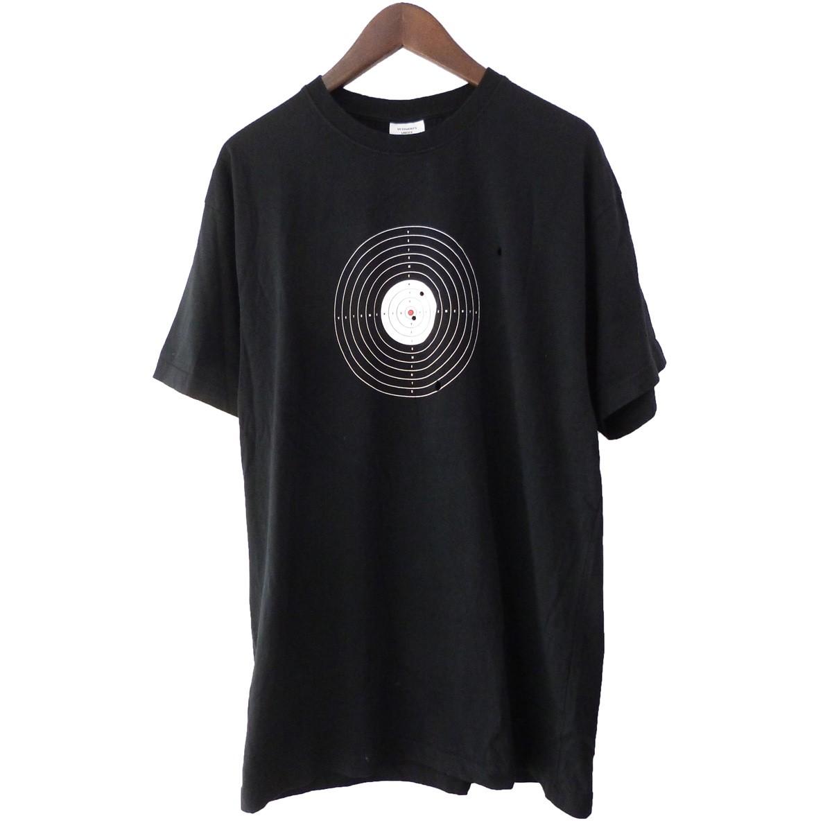 【中古】VETEMENTS 19SS 「TARGET TEE」 ダメージ加工ターゲットTシャツ ブラック サイズ:XS 【020220】(ヴェトモン)