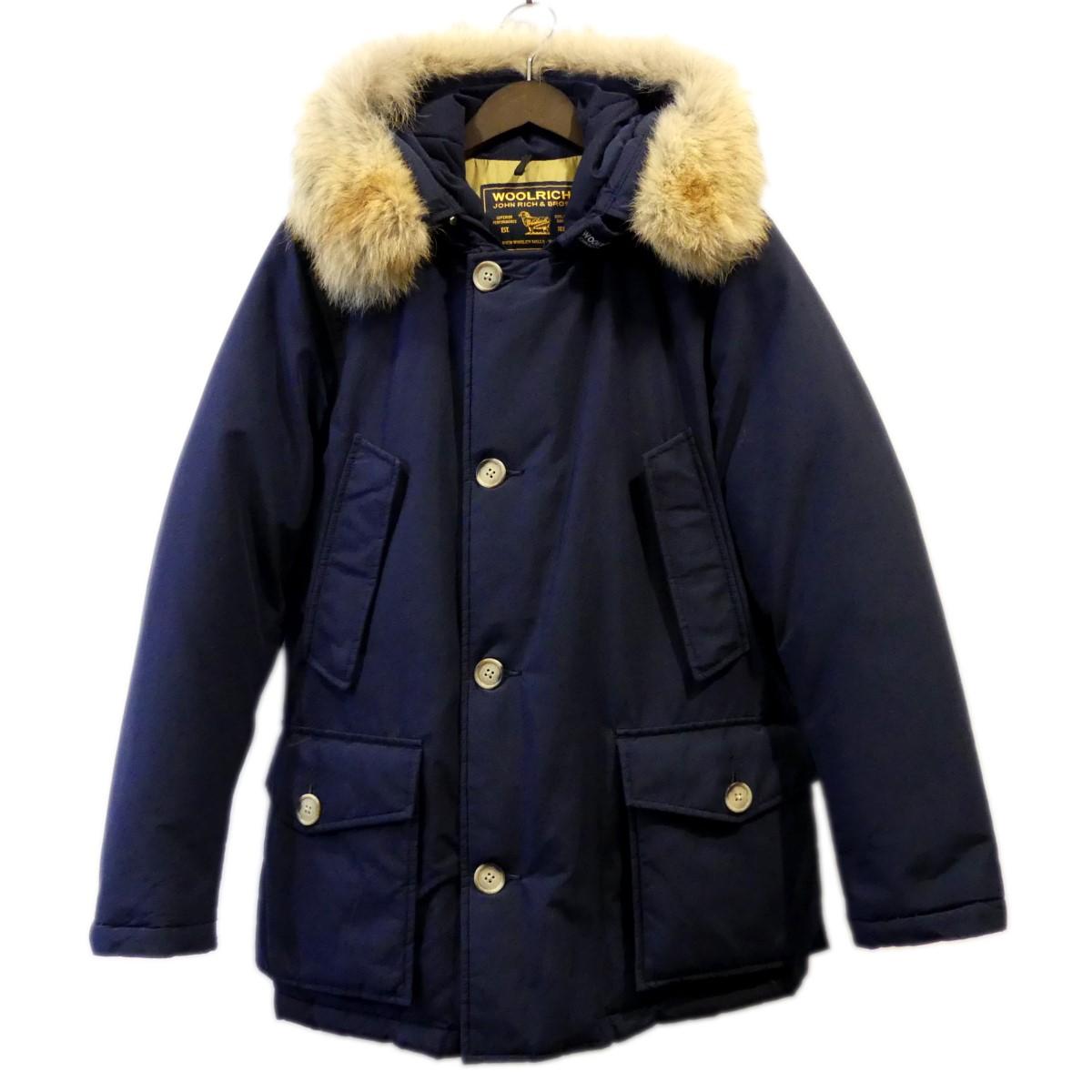 【中古】Wool richARCTIC PARKA ダウンジャケット アークティックパーカー ネイビー サイズ:XS【2月6日見直し】