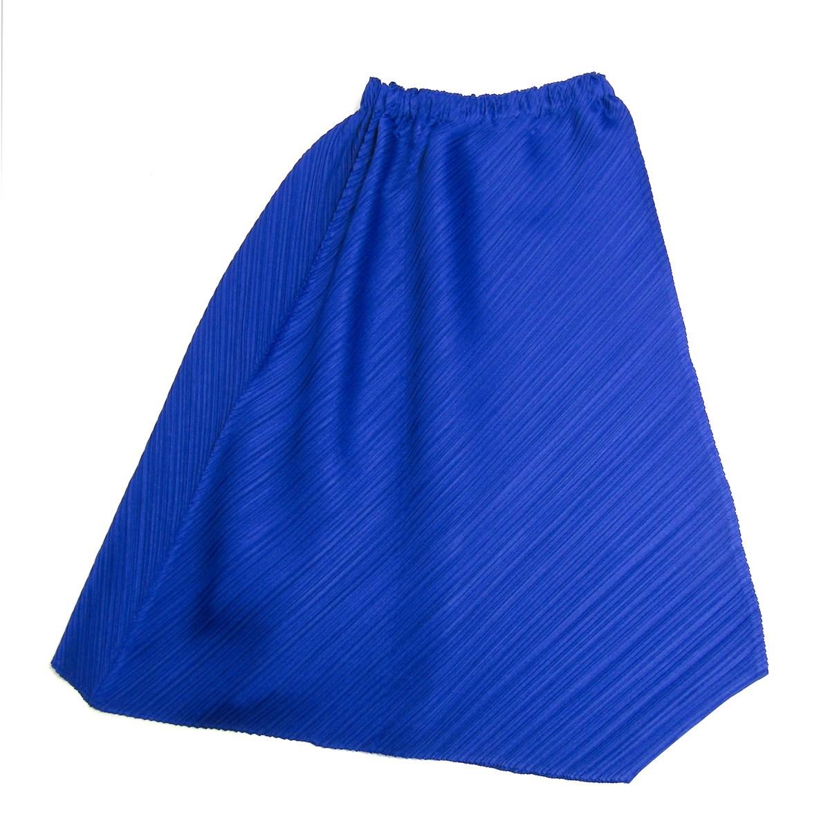 【中古】PLEATS PLEASE 2018AW プリーツロングスカート ブルー サイズ:1 【020220】(プリーツプリーズ)