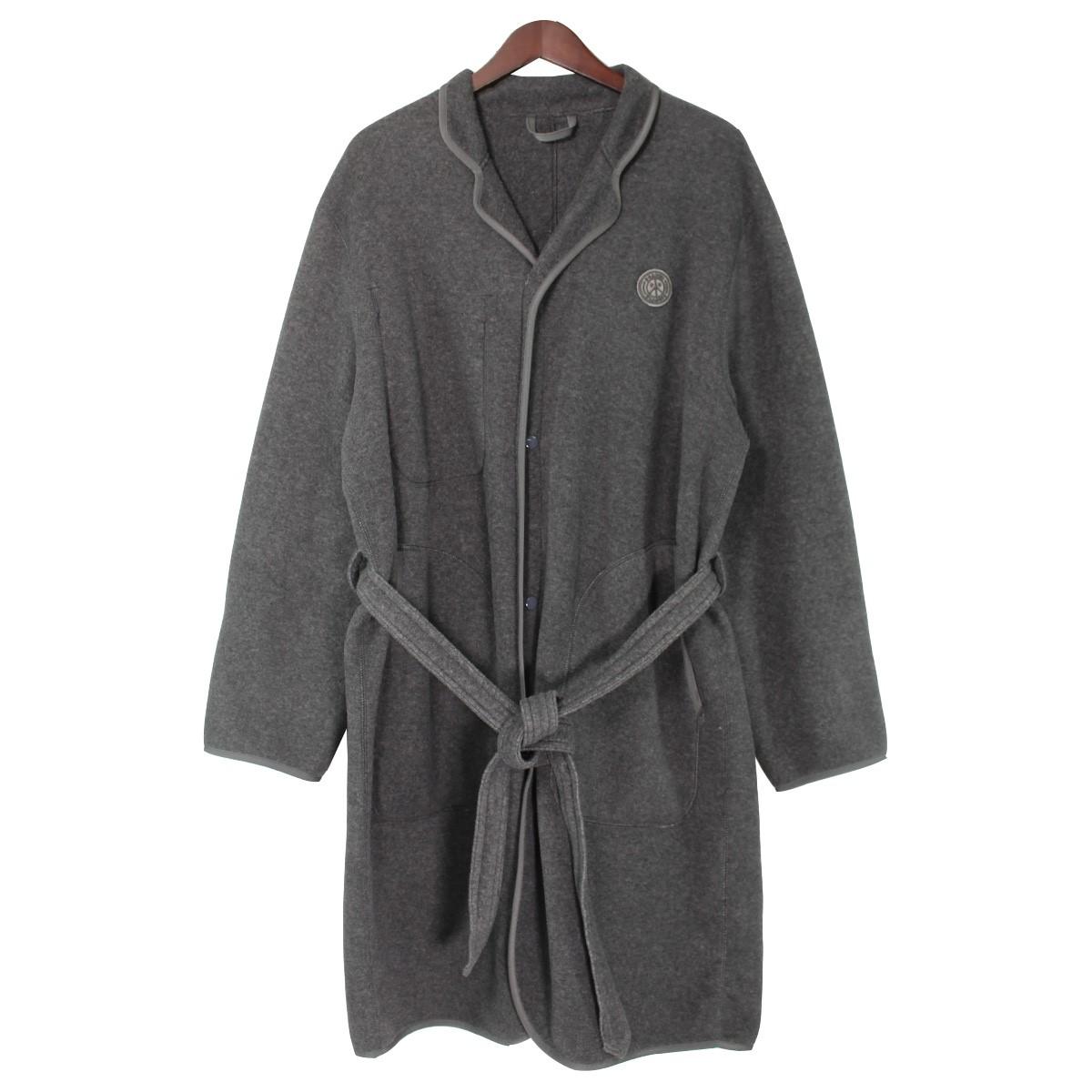 【中古】Porter Classic17AW Fleece Gown Coat フリースガウンコート グレー サイズ:M 【3月30日見直し】