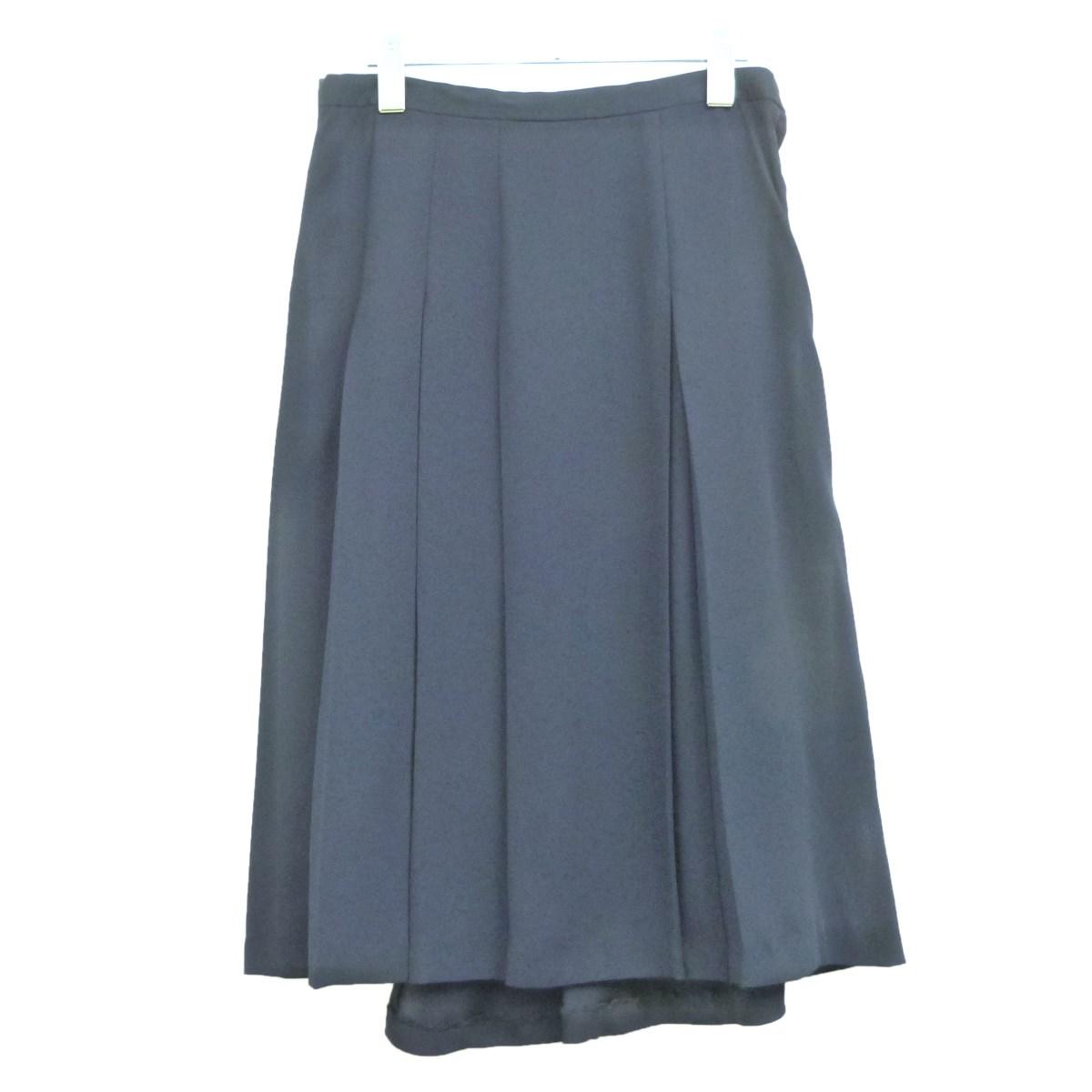 【中古】sue UNDER COVER 18AWプリーツギャザースカート ネイビー サイズ:2 【050220】(スーアンダーカバー)