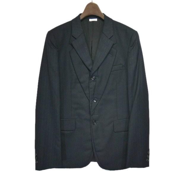 【中古】COMME des GARCONS HOMME PLUS フェイクレイヤードテーラードジャケット ネイビー サイズ:XS 【050220】(コムデギャルソンオムプリュス)