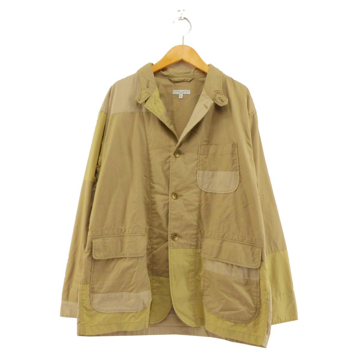 【中古】Engineered Garmentsパッチワークテーラードジャケット ベージュ サイズ:S 【5月11日見直し】