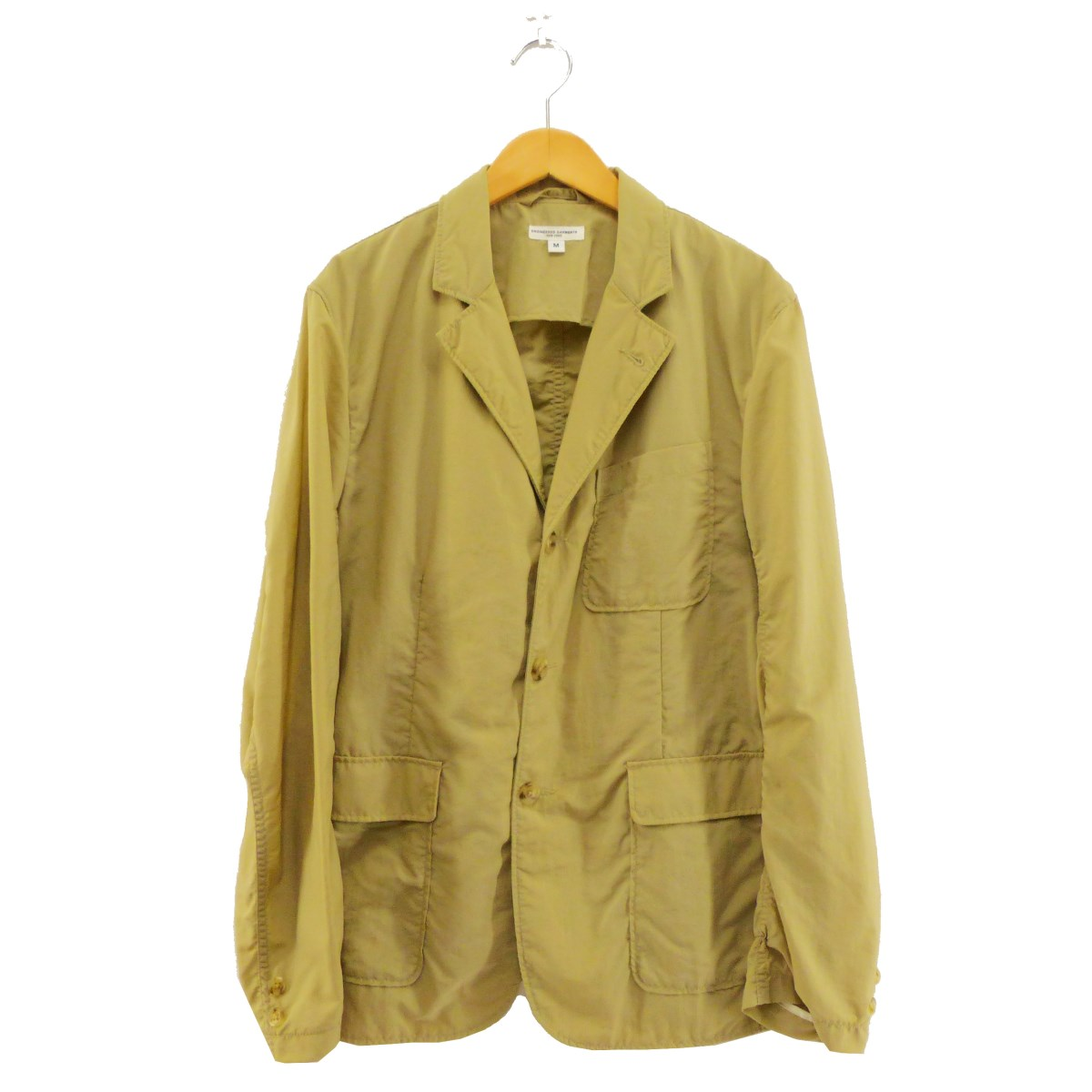 【中古】Engineered Garmentsナイロンテーラードジャケット ベージュ サイズ:M 【5月11日見直し】