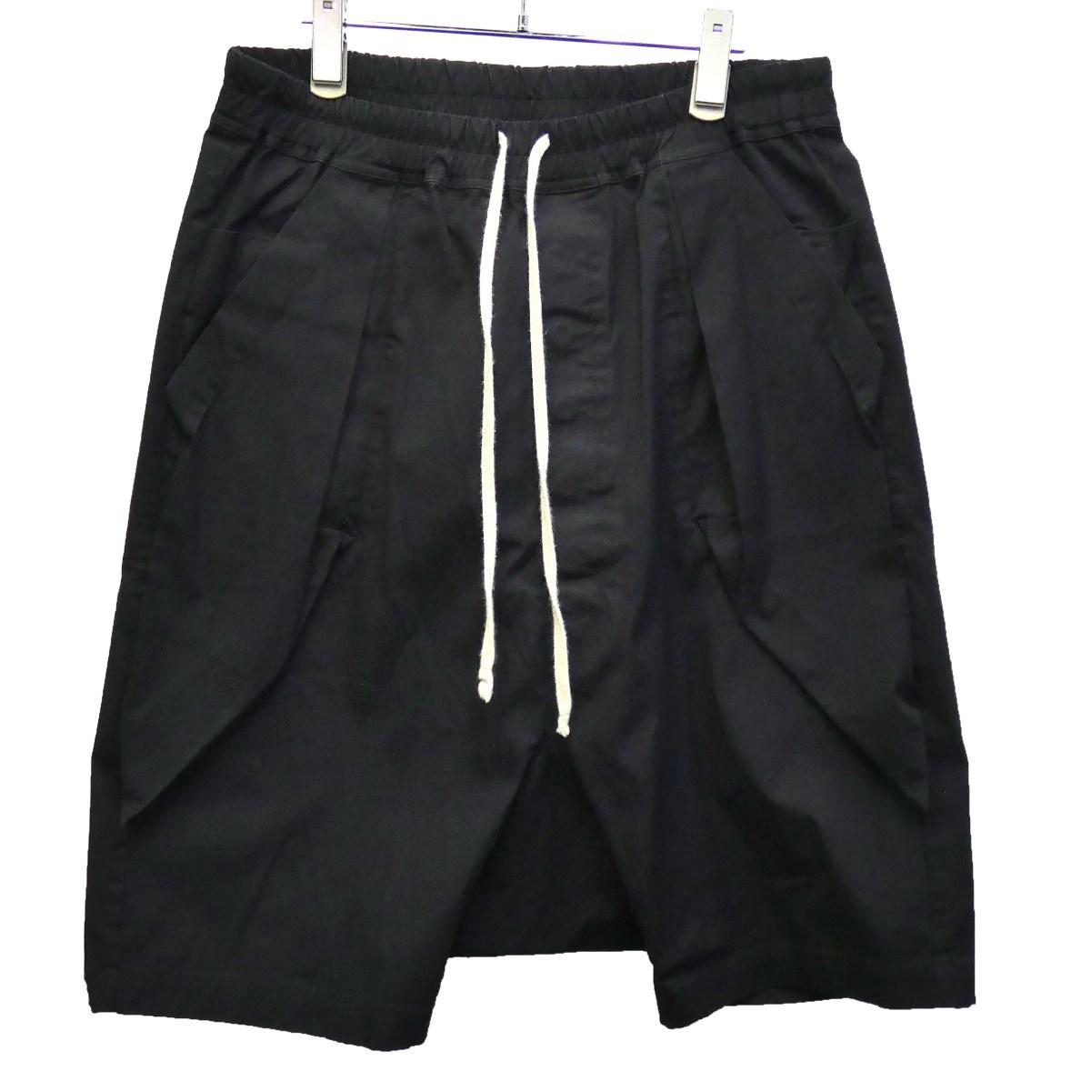 【中古】Rick Owens 16SS サルエルハーフパンツ RU16S3392-TE ブラック サイズ:IT50 【050220】(リックオウエンス)