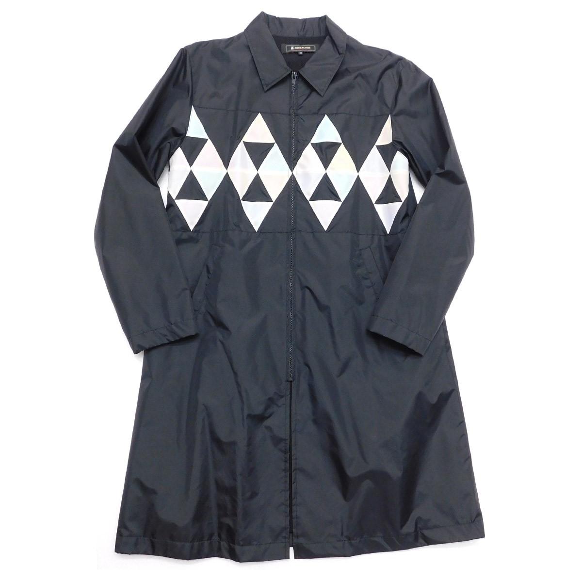 【中古】ANREALAGE プリズムコート ロングコーチジャケット ブラック サイズ:46 【040220】(アンリアレイジ)