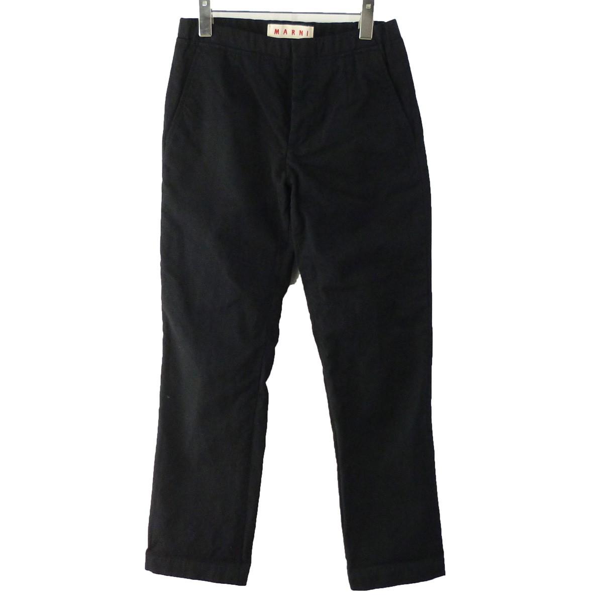 【中古】MARNI ウールコットンイージーパンツ ブラック サイズ:44 【070220】(マルニ)