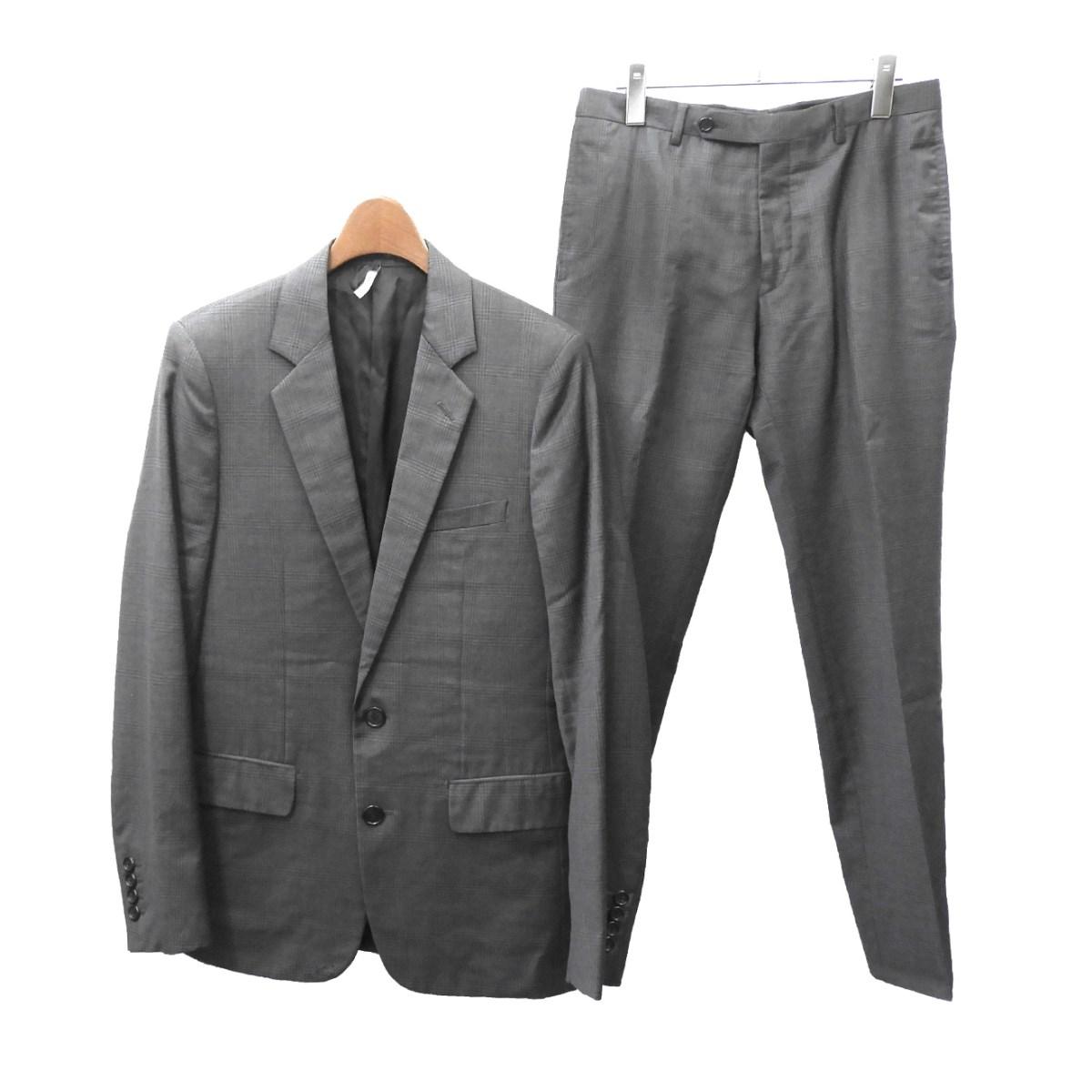 【中古】Dior Homme 2007SS チェック柄セットアップスーツ グレー サイズ:44/44 【080220】(ディオールオム)