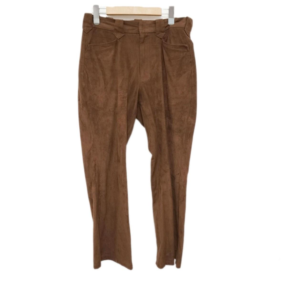 【中古】superNova. 19SS × LANTIKI フェイクスウェード ウエスタンパンツ western pants ブラウン サイズ:S 【080220】(スーパーノヴァ)
