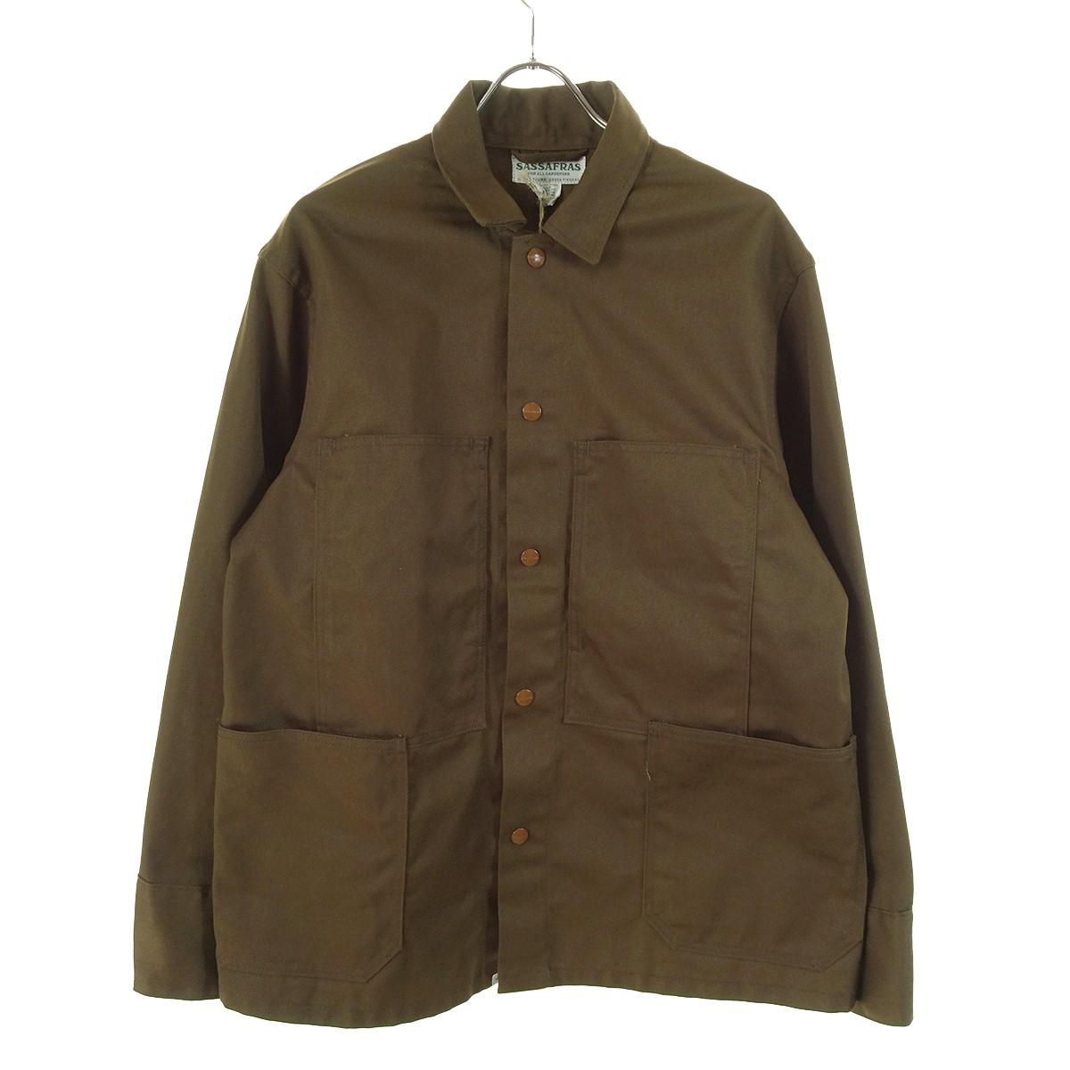 【中古】SASSAFRAS Transplant Jacket 19AW ブラウン サイズ:L 【080220】(ササフラス)