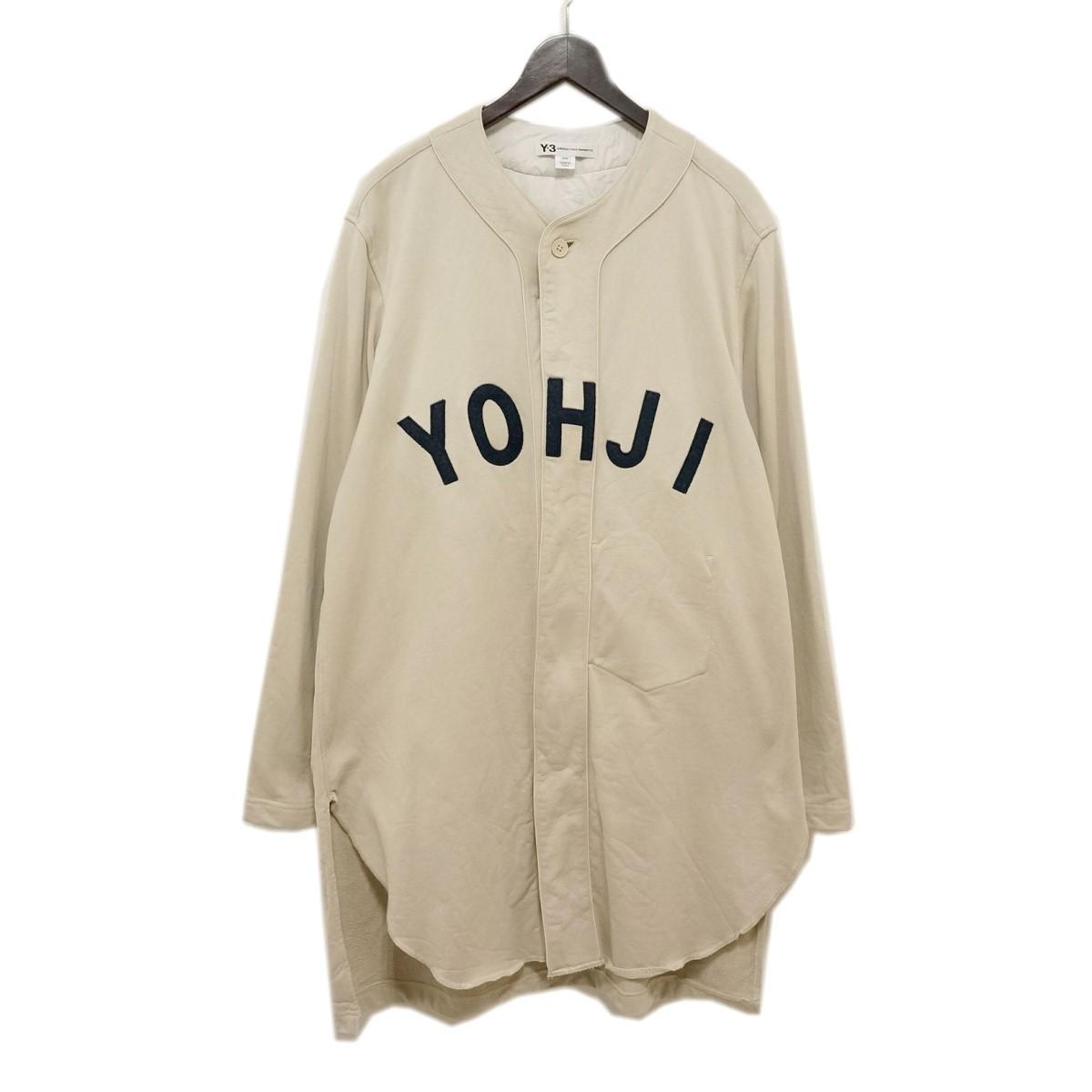 【中古】Y-3 19AW ロゴベースボールシャツ ベージュ サイズ:M 【090220】(ワイスリー)