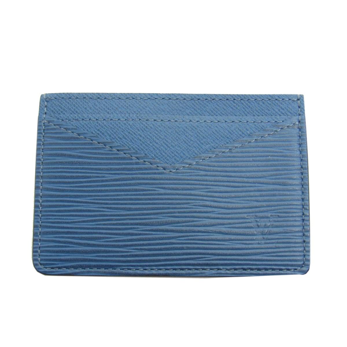 【中古】LOUIS VUITTONネオポルトカルト レザーカードケース CT5116 ブルー