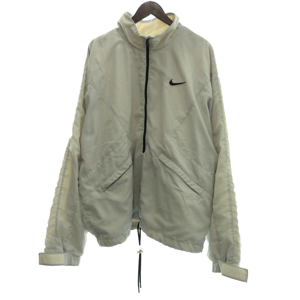 【中古】FEAR OF GOD×NIKE 19SS「Nrg A18 Halfzip Jacket」ハーフZIPジャケット グレー サイズ:L 【090220】(フィアオブゴッド ナイキ)