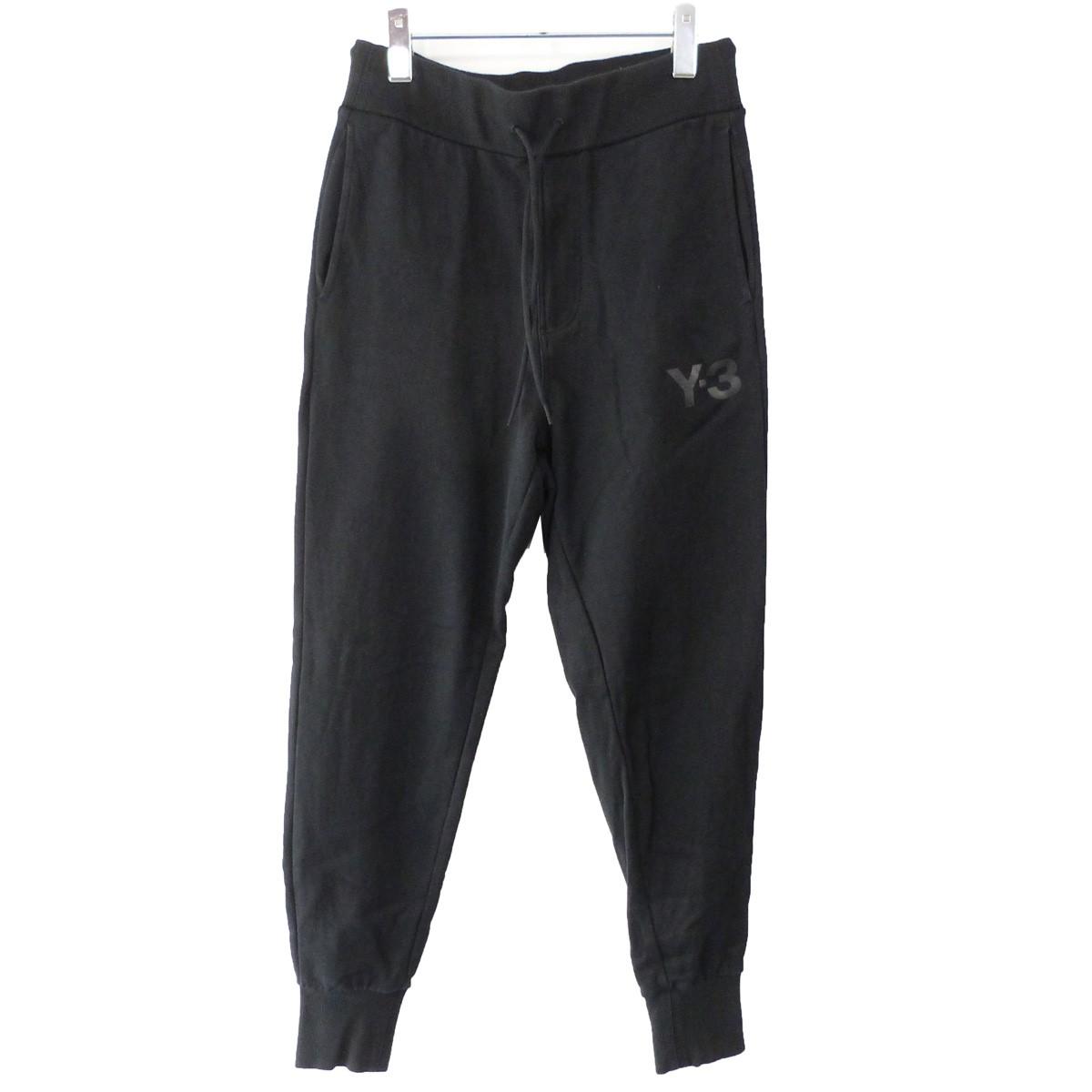 【中古】Y-3 「M CL CUFF PANTS」 ジョガーロゴスウェットパンツ ブラック サイズ:XS 【090220】(ワイスリー)