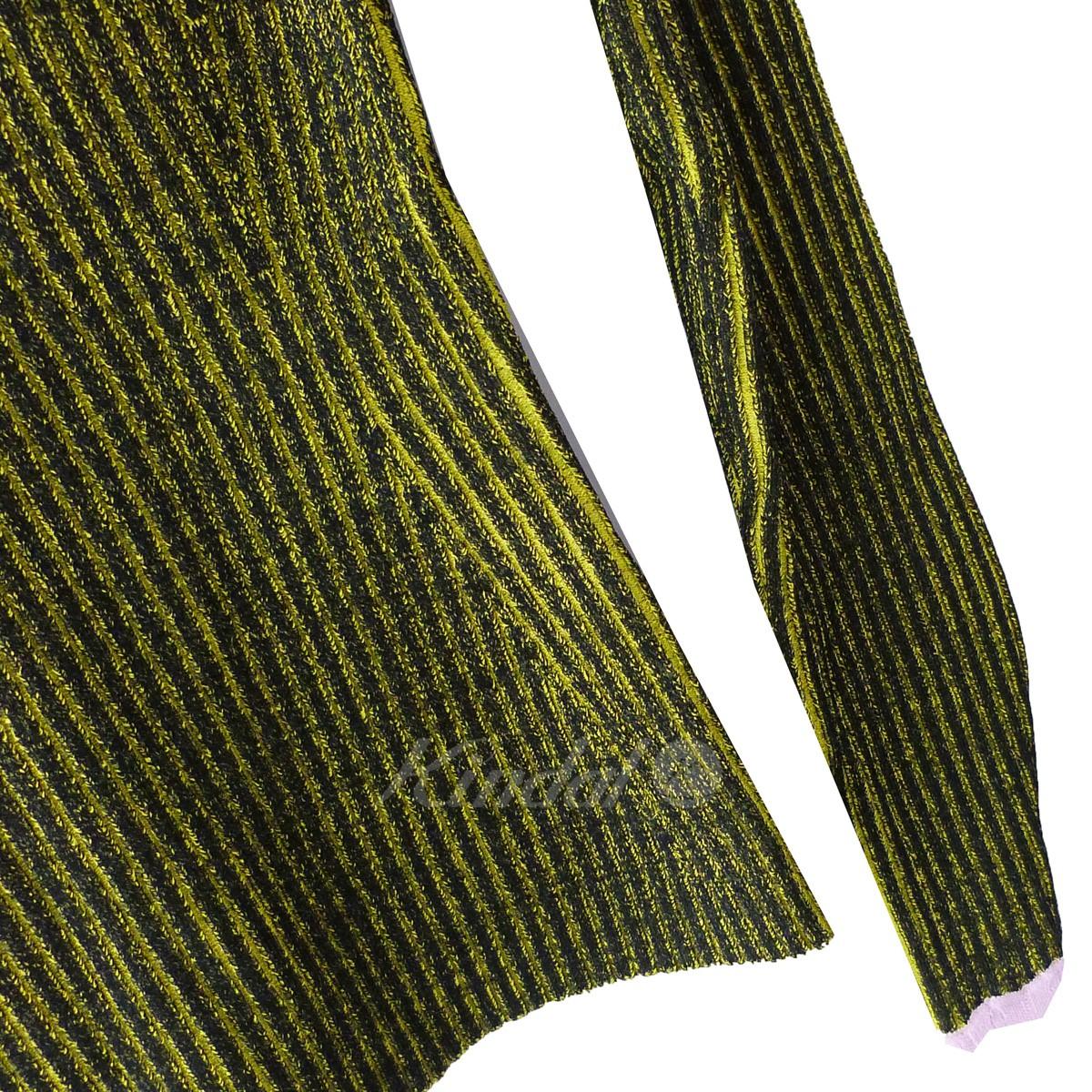 ADAM SELMAN リブニットセーター イエロー×ピンク サイズ S090220アダム・セルマンnmwvN80