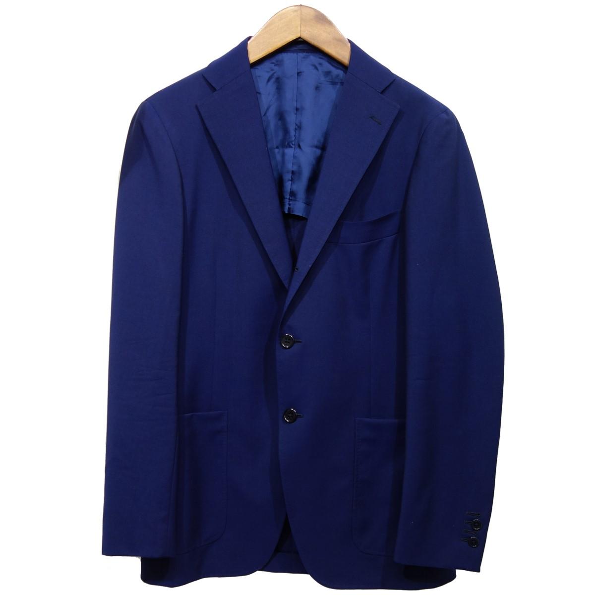 【中古】SHIPS by RING JACKET ウール3Bテーラードジャケット ブルー サイズ:44 【090220】(シップスバイリングジャケット)