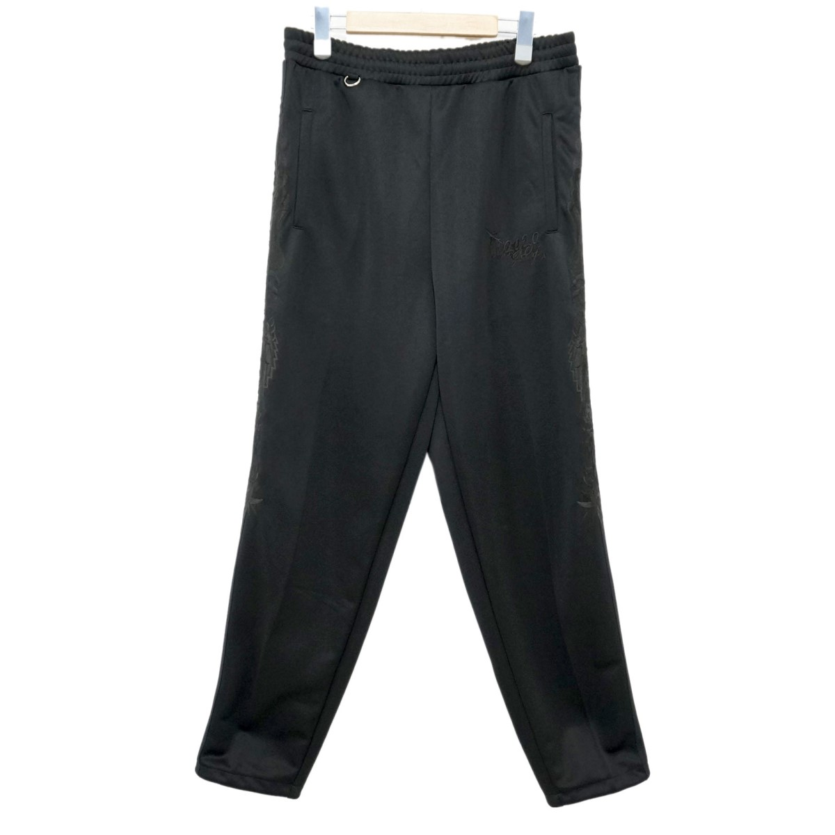 【中古】DOUBLET 20SS CHAOS EMBROIDERY TRACK PANTS  刺繍トラックパンツ ブラック サイズ:S 【100220】(ダブレット)