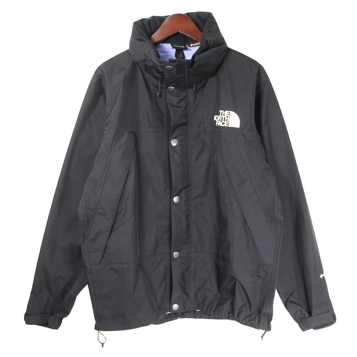 【中古】THE NORTH FACEMountain Raintex Jacket マウンテンレインテックスジャケット ブラック サイズ:L 【3月30日見直し】