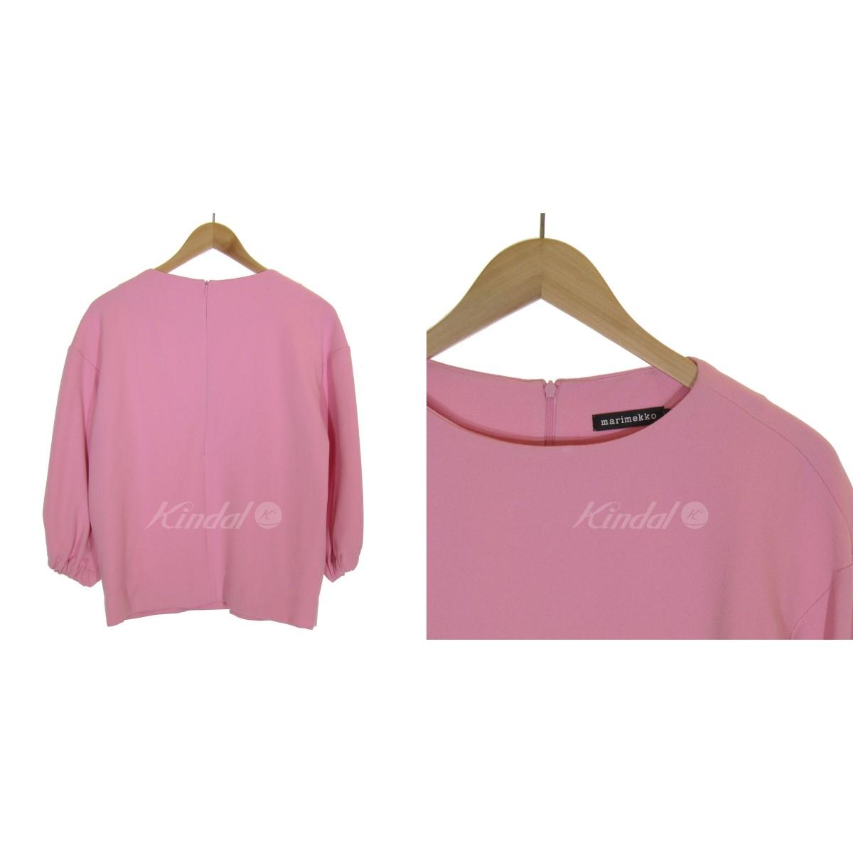 marimekkoEMILIANA SHIRT ブラウス ピンク サイズ 340XOkNwP8n