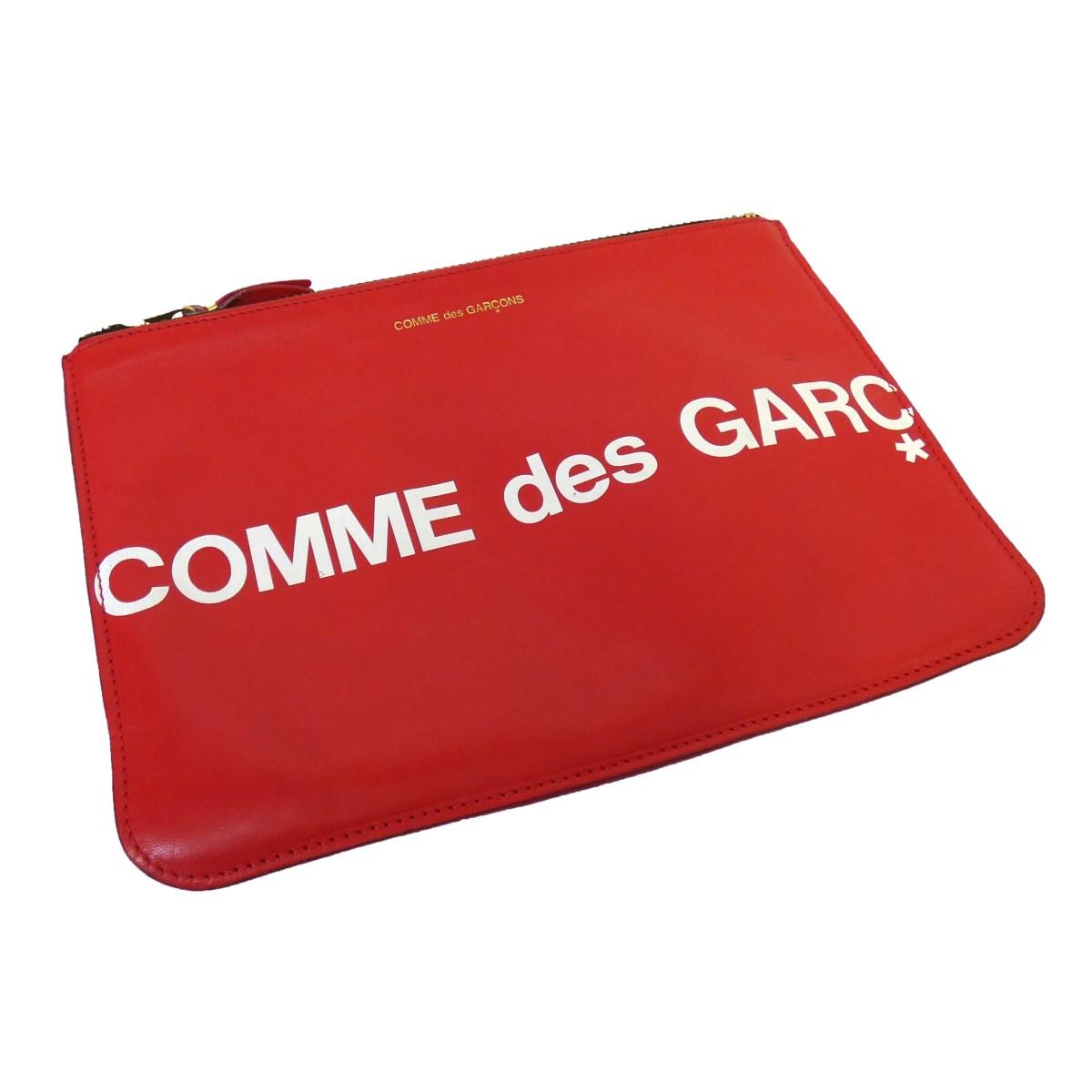 【中古】COMME des GARCONS ロゴポーチ レッド サイズ:- 【100220】(コムデギャルソン)