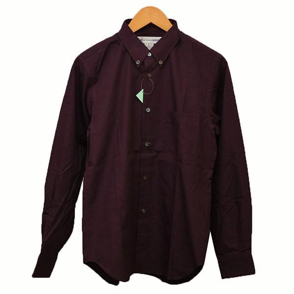 再再販! 【】COMME des GARCONS SHIRTボタンダウンシャツ シャツ FRANCE MADE フランス パープル サイズ:S, カゴシマグン 940fc9c8