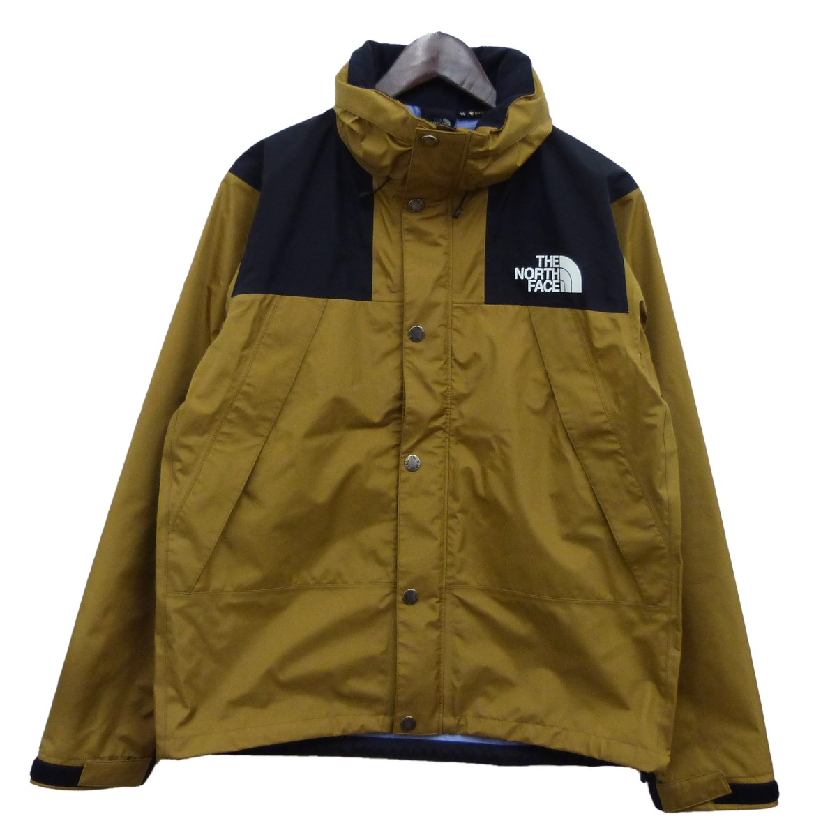 【中古】THE NORTH FACE マウンテンレインテックスジャケット ブリティッシュカーキ サイズ:M 【120220】(ザノースフェイス)