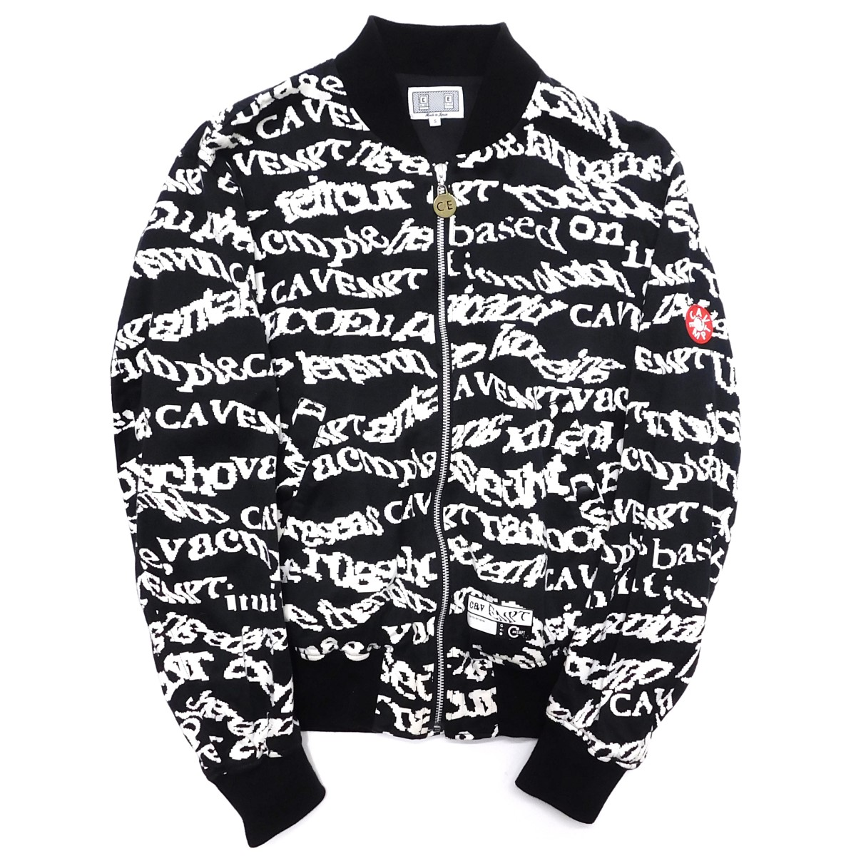 【中古】C.E CAV EMPT 2014AW SECURITY JACKET 総柄ジャケット ブラック サイズ:S 【110220】(シーイー)