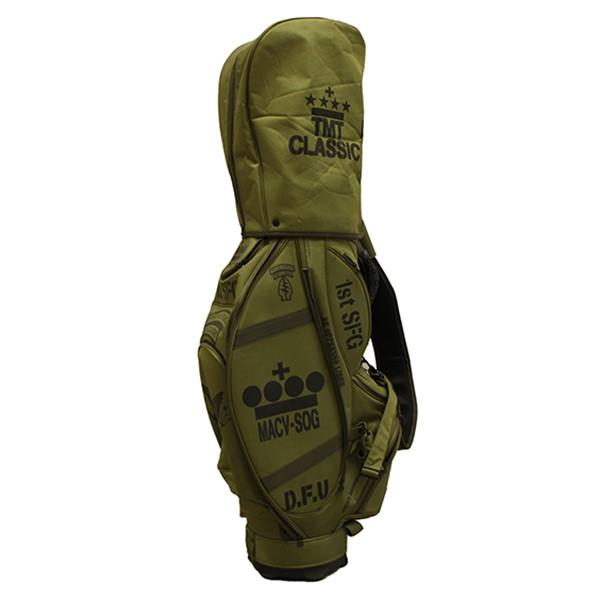 【中古】TMT classic ミリタリーステンシルツアーキャディバッグ ゴルフバッグ オリーブ サイズ:- 【110220】(ティーエムティー クラシック)