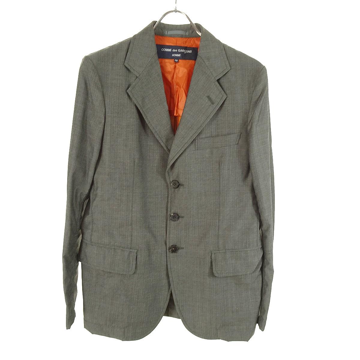 【中古】COMME des GARCONS HOMME テーラードジャケット AD2013 グレー サイズ:XS 【120220】(コムデギャルソンオム)