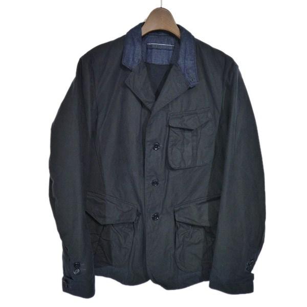 【中古】45rpm デニムカラー切替オイルドジャケット ネイビー サイズ:2 【120220】(フォーティファイブアールピーエム)