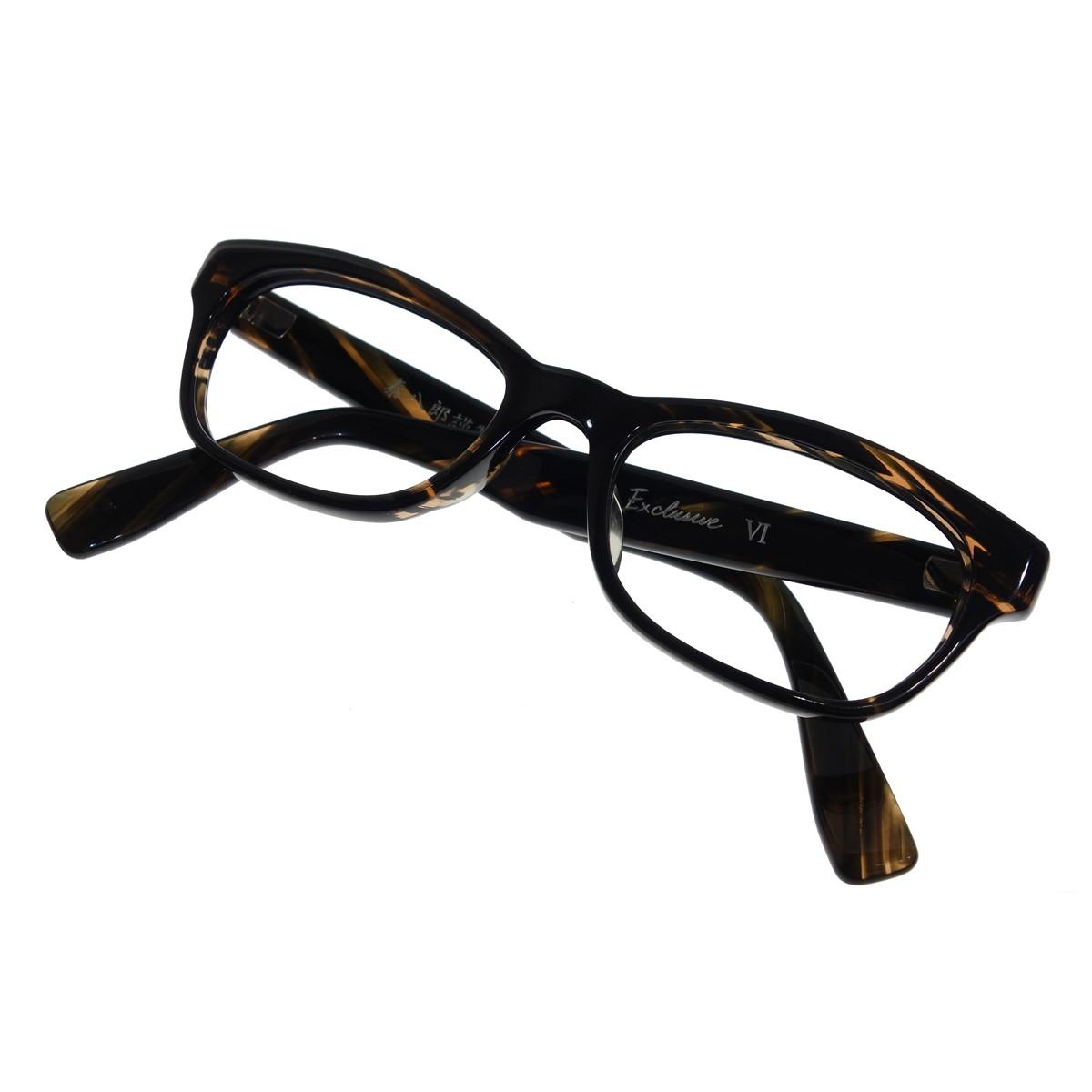【中古】泰八郎謹製 Exclusive VI 眼鏡 ブラウン 【120220】(タイハチロウキンセイ)