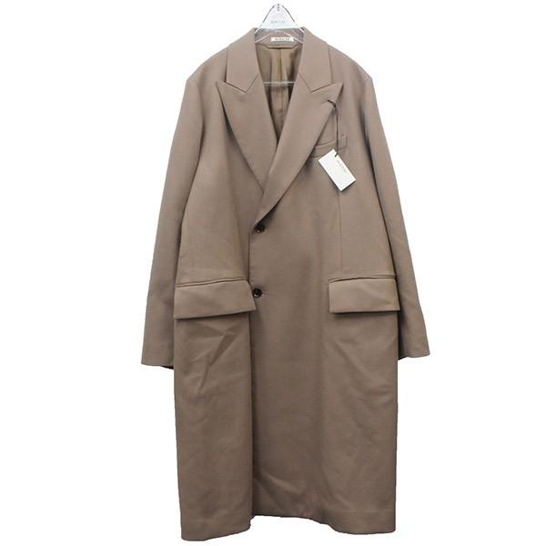 【中古】AURALEE2019AW LIGHT MELTON DOUBLE-BREASTED COAT コート ライトブラウン サイズ:4 【3月12日見直し】
