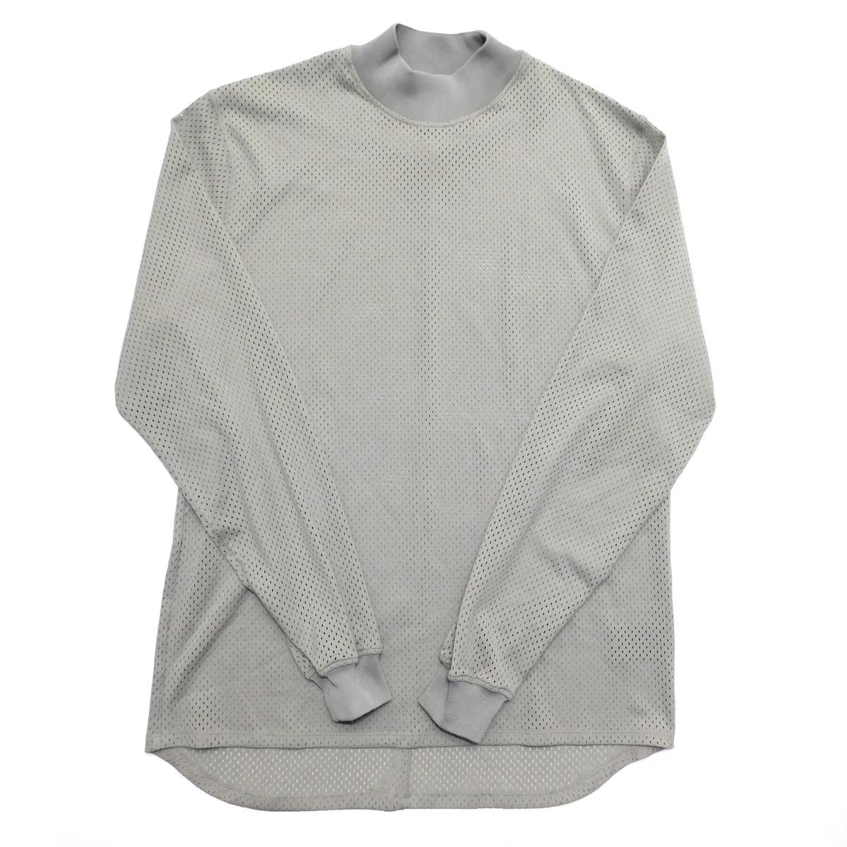 【中古】FEAR OF GOD FIFTH Collection Mesh Long Sleeve Shirt メッシュロンT グレー サイズ:S 【120220】(フィアーオブゴッド)