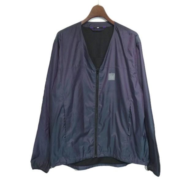 【中古】Needles Sportswear 2016AW「Warm Up V-Neck Jacket」ナイロンジャケット ネイビー サイズ:L 【130220】(ニードルズ スポーツウェア)