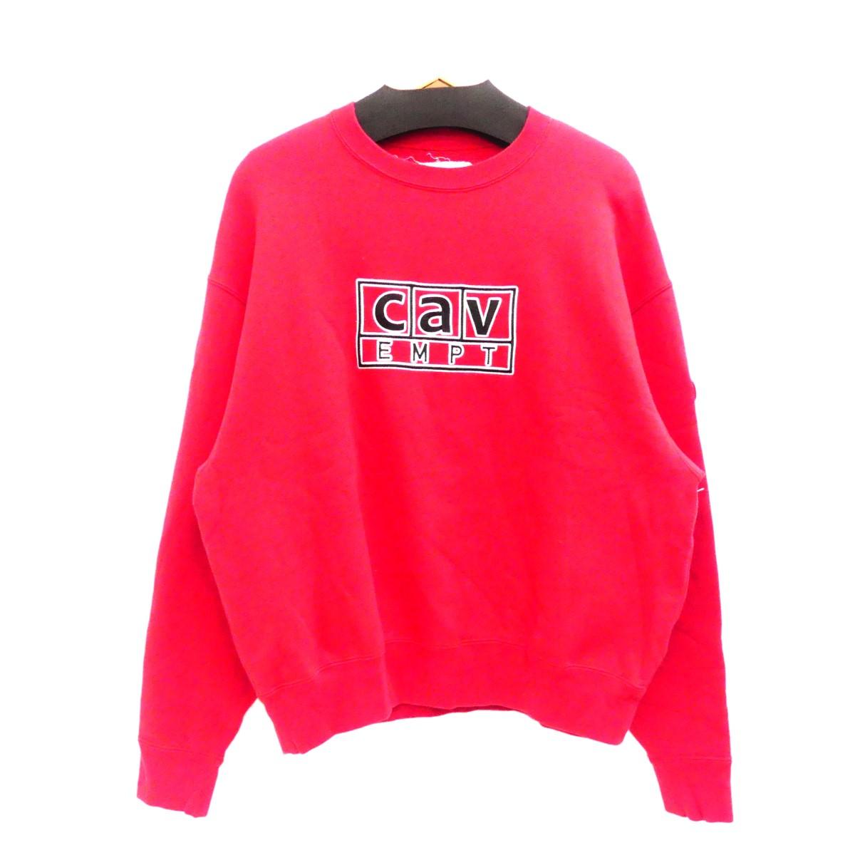 【中古】C.E 2018AW Cav BoxCrewneck Sweatshirt クルーネックスウェット レッド サイズ:M 【140220】(シーイー)