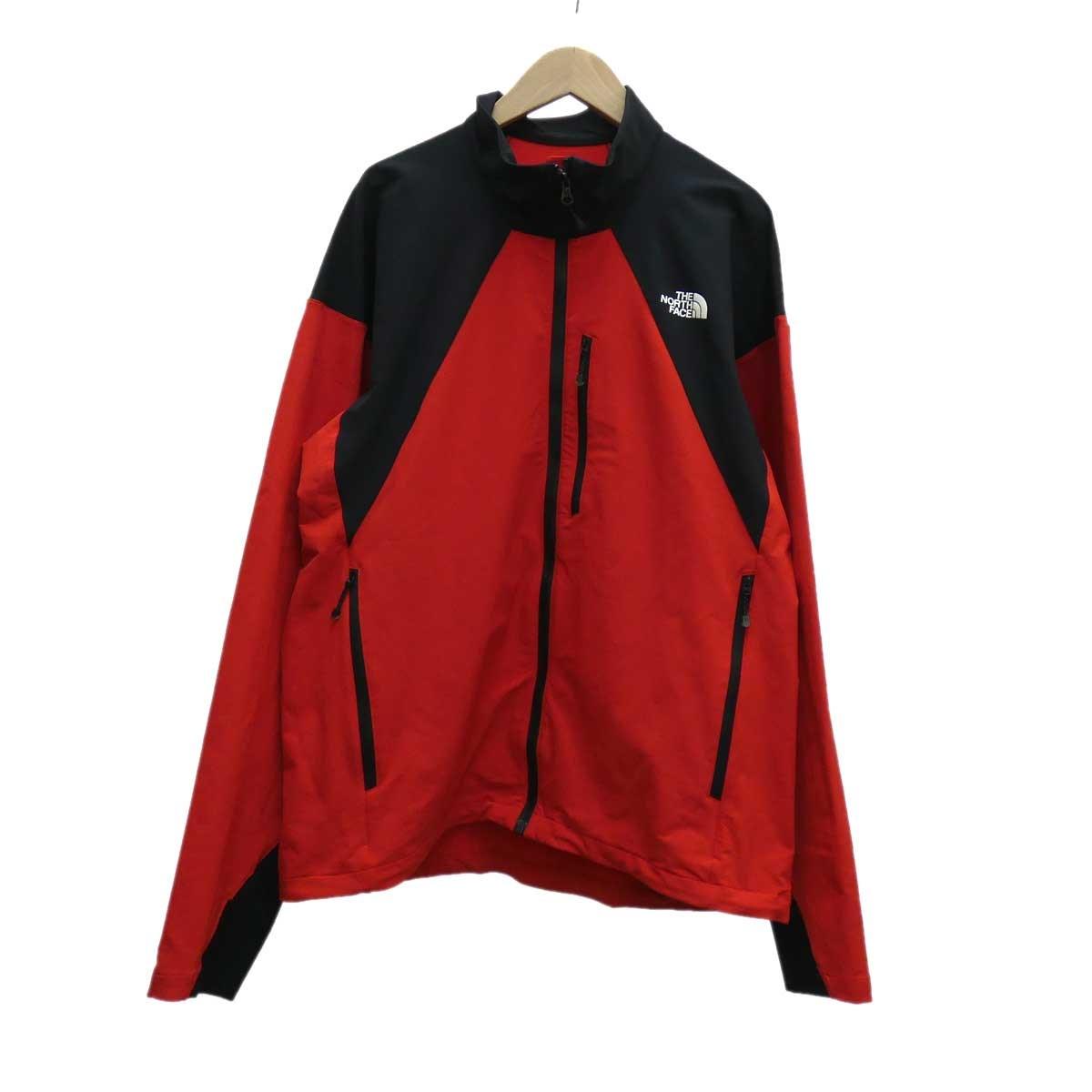 【中古】THE NORTH FACE Hammerhead Jacket レッド×ブラック サイズ:L 【140220】(ザノースフェイス)