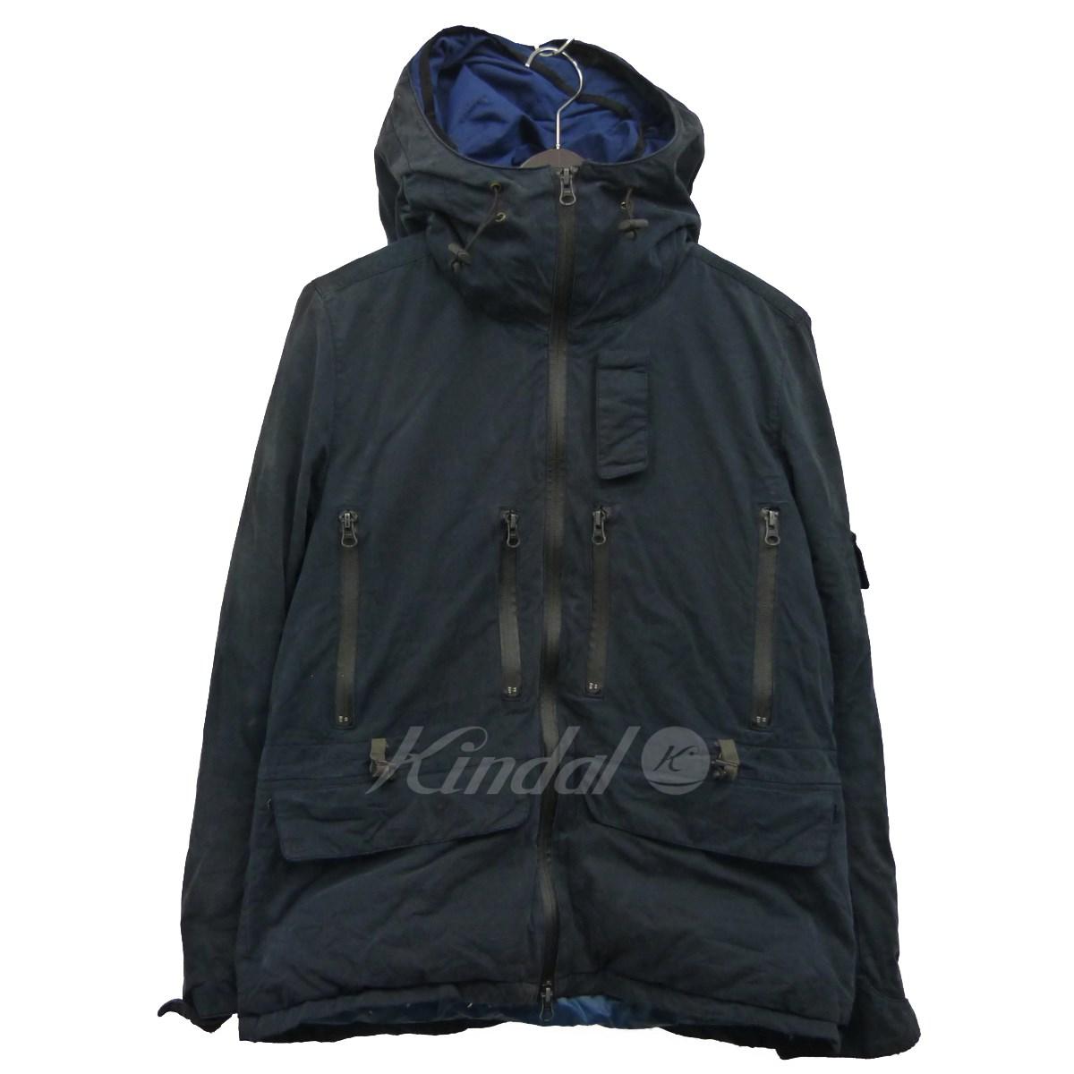 【中古】REMI RELIEF 特殊加工ミリタリーダウンジャケット ネイビー サイズ:S 【140220】(レミレリーフ)
