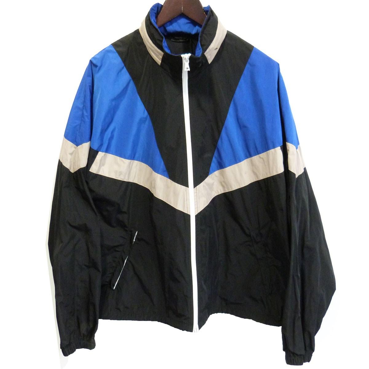 【中古】ROBERTO COLLINA 19SS ナイロンジャケット ブラック×ブルー サイズ:48 【140220】(ロベルトコリーナ)