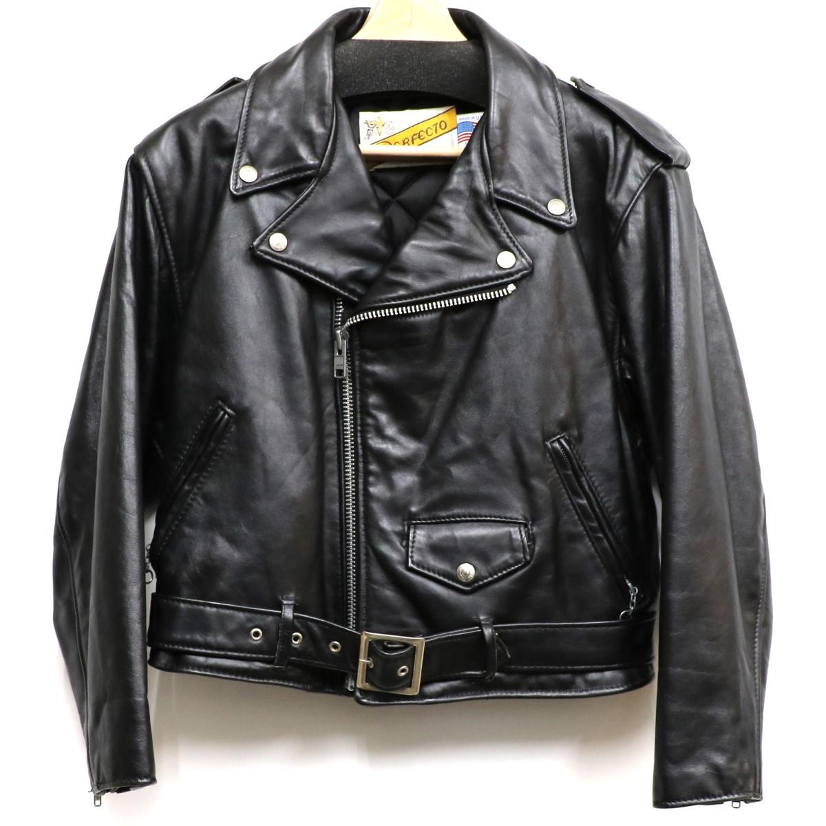【中古】SCHOTT 80-90S 108W Riders Jacketバイカータグダブルライダースジャケット ブラック サイズ:US10 【140220】(ショット)