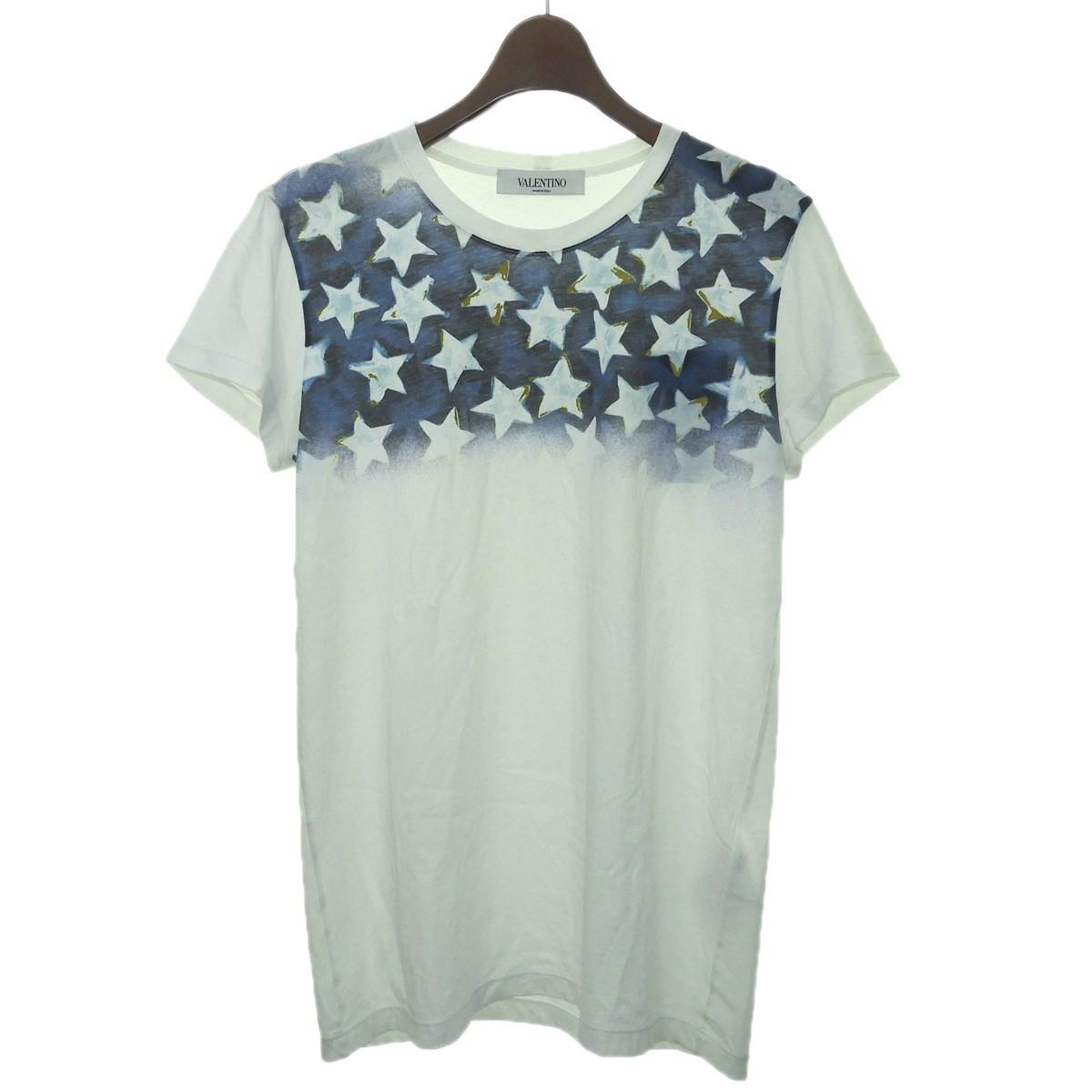 【中古】VALENTINO スタープリントTシャツ ホワイト サイズ:XS 【150220】(ヴァレンティノ)