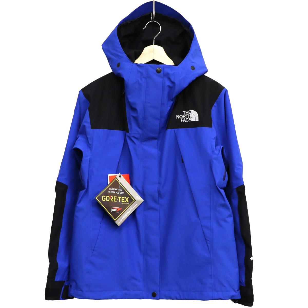 【中古】THE NORTH FACE Mountain Jacket GORE-TEXマウンテンパーカー ブルー×ブラック サイズ:L 【150220】(ザノースフェイス)